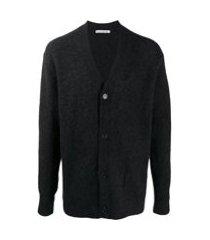 acne studios v-neck knit cardigan - cinza