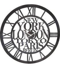 zegar metalowy cities