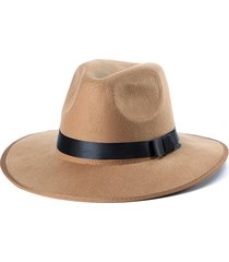 unisex cappello fedora di feltro a larga tesa all'aperta da spiaggia cappello da sole panama trilby borsalino