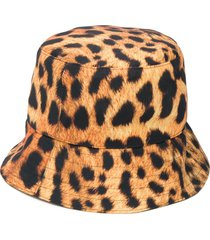 manokhi leopard-print bucket hat - yellow