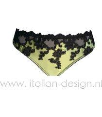 ambra lingerie slips silk string groen 1740