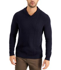 tasso elba men's chunky shawl sweater, created for macy's