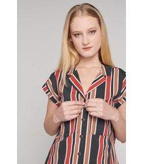 blusa con franjas koaj - rojo