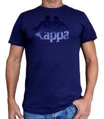 camiseta kappa authentic estessi - azul
