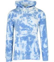 galaxy by harvic men's tie-dye fleece pullover hooded sweatshirt