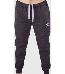 pantalón de buzo umbro tricot básico gris - calce regular