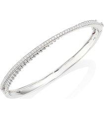 hueb women's bubbles diamond & 18k white gold bangle bracelet
