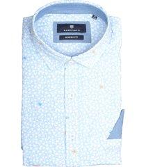 basefield korte mouw overhemd 219014368/610 blauw