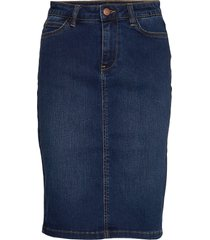 sc-andora knälång kjol blå soyaconcept