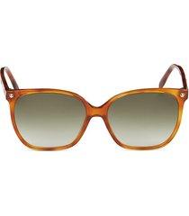 alexander mcqueen women's 59mm square sunglasses - light havana