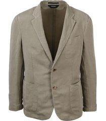 z zegna destructured blazer in linen blend