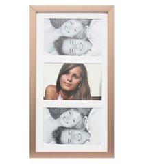painel insta para 3 fotos com paspatur 18x38cm cobre