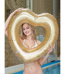 heart-shaped transparent sequins pool swim ring