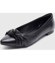 zapato plano negro modare