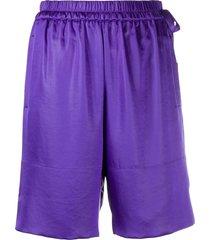acne studios knee-length shorts - purple