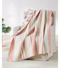 coral brighton quilted throw