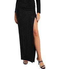 falda zarya high slit skirt jtmu negro guess