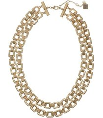 laundry by shelli segal two-row chain necklace