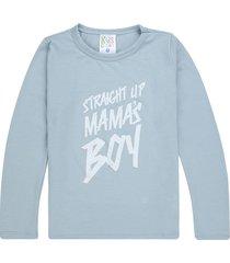 camiseta azul claro estampada mamas boy manga larga