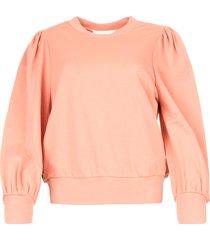 sweater met pofmouwen oxford  roze