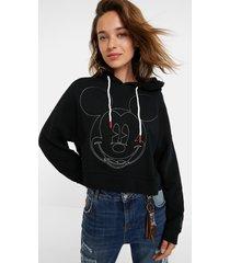 mickey mouse monogram sweatshirt - black - xl