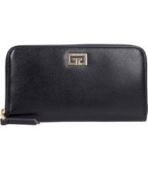 givenchy gv3 zip wallet wallet in black leather