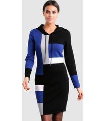 jurk alba moda marine::royal blue