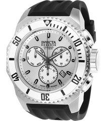 reloj invicta negro modelo 257cg para hombres, colección russian diver
