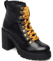 biacurtis leather boot shoes boots ankle boots ankle boot - heel svart bianco