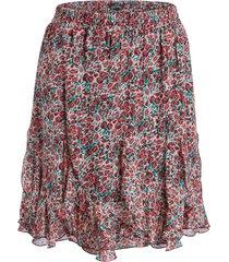 rok met bloemenprint tia  rood