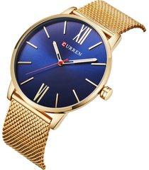 curren uomo casual orologio da polso in acciaio inossidabile idrorepellente di lusso ultra-sottile