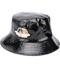 fiorucci angel vinyl bucket hat - black