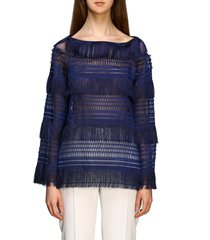 alberta ferretti sweater alberta ferretti sweater with fringes