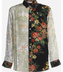 j.w. anderson viscose shirt with floral pattern