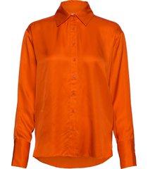 paulineiw shirt blouse lange mouwen oranje inwear