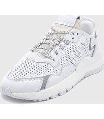 zapatilla nite jogger blanco adidas originals