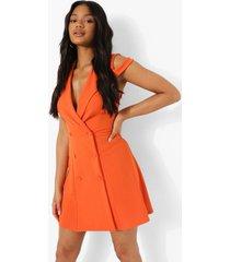 blazer skater jurk met strik, orange