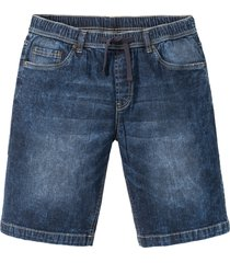 bermuda con elastico slim fit (blu) - rainbow