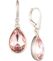 dkny stone teardrop lever back earrings, created for macy's