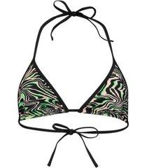 bikini puma all-over-print triangle bikini top