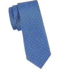 diamond dot silk tie