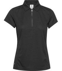 macy cap/s polo shirt t-shirts & tops polos svart daily sports