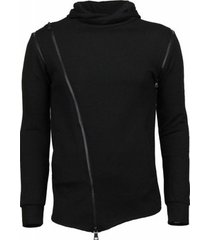 sweater daniele volpe casual hoodie - long style zipper -