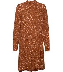 kabillie amber dress knälång klänning brun kaffe