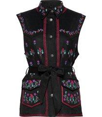 ashley vest blouse mouwloos zwart odd molly