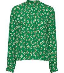 aline shirt blouse lange mouwen groen nué notes