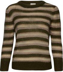 catia knit pullover stickad tröja grön minus