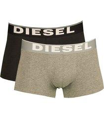 diesel boxershorts kory 2pak grijs