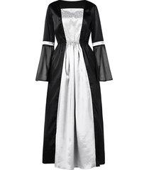long sleeve high waist maxi prom dress