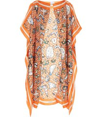 burberry jacuqard scribble cape